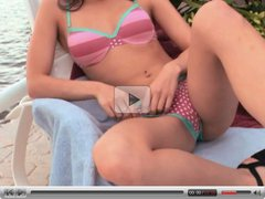 Horny teen in action outdoors