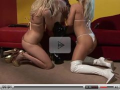 BUSTY BABE LESBIANS PLAY WITH DILDOS...usb