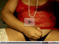 vid004 red white and black, nice cumshot