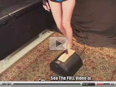 PetiteTeen Ashley's 1st Sybian Ride At Dirty D's House