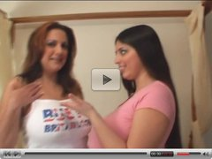 Mellie D & Kerrie Marie Creamy Boobs Fun