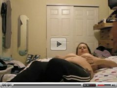 Fat Chubby Ex Girlfriend Masturbating and Cumming on Cam