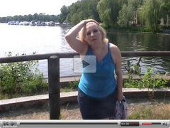 hot german milf outdoor play