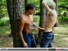 Vintage amateur movie from the forest