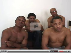 4 HUGE Black Cocks - 1 Skinny White TEEN - Oh Dear..........