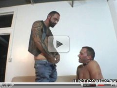 Tattooed Bear Fucks Friend