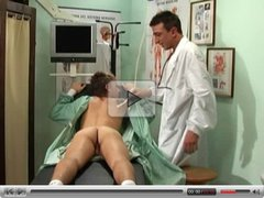 Horny doctor got probed by patient's dick