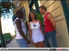 DP in Threesome with black & White Guy
