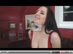 Samantha Bentley in Red Latex