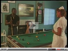 SEXY BLACK NURSE HOOKER FUCKS BBC ON THE POOL TABLE