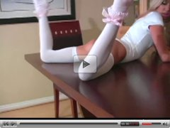 Kacey Jordan  in white nylon hose