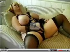 Horny Fat BBW Ex Girlfriend fucking in stockings P-1