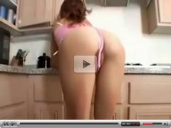 Boy and girl sex in the kitchen