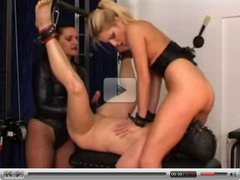 Milking - Intense Handjob & BIG Cumshot, Fem. Slave Licks Up