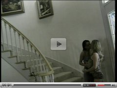 Gay sluts eating cunt on the steps