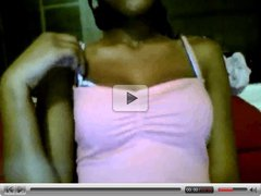 Hot Ebony Girl Loves To Tease On Webcam 1