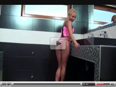 Hot Russian Blonde Fucked in the Bathtub