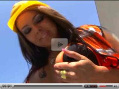 Construction worker slut sucking BBC