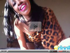 Wild ebony girlfriend fingering hard