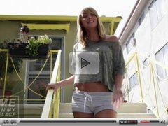 Sara Underwood backstage photoshoot