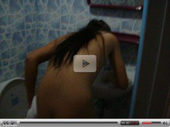 My beautiful Ladyboy Girlfriend is taking a shower