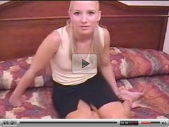 Casting Blonde Teen  Green eyes