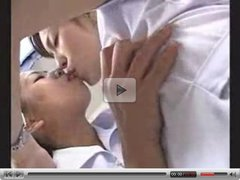 Japan lesbians tongue kissing