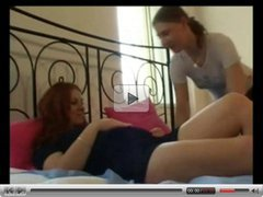 Horny Fat Chubby lesbian playing with her friend's Pussy