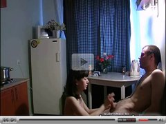 Russian amateur sex on kitchen 5