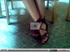 teen library footsie yery cute hot feet