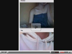 Omegle -  Horny teen bitch masturbating