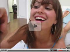 Nice teen Riley Reid gives blowjob