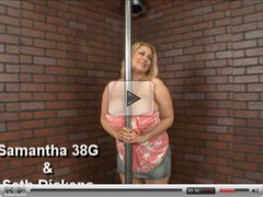 BBW Samantha pole dancing before sex