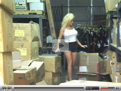 Hot Mature Cougar Cynthia Hammers Banging in Warehouse