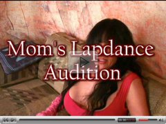 Mom auditions for pantyhose lap dance job