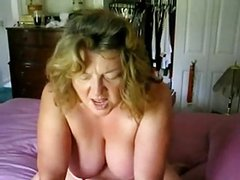 Mature Gets Pussy Eaten Then Rides Cock