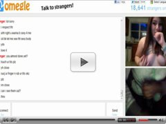 omegle 79 ( Rubbing tits and sucking finger for cum)