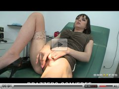 Slutty brunette Cytherea squirts while riding doctor's cock
