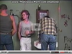 Public toilet wild group orgy