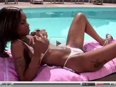 Black Girl in a Bikini Masturbates Outdoors by TROC