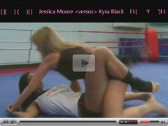 NFC Hot Fighting Fem's Jessica Moore VS Kyra Black