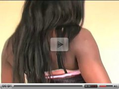 Beautiful British Ebony Teen Striptease