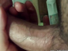 My horny wife toilet blowjob