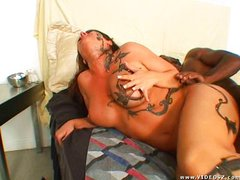 Jewel D Nyle gets boned by black demon