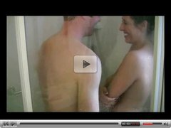 Amateur couple get naughty in the shower