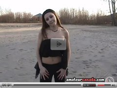 Kirsten teen outdoors beach teasing softcore then flashing