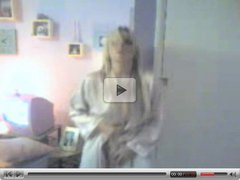 Girl strips and dances on cam