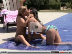 Hot blonde whore has cute tits and gets