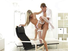 Nubile Films - tight pussy stuffed full
