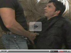 Dominating man fucking black haired guy